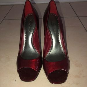 Red Peep Toe Gianni Bini Size 8